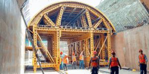 construction crew building frame