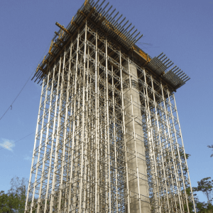 tall structure under construction