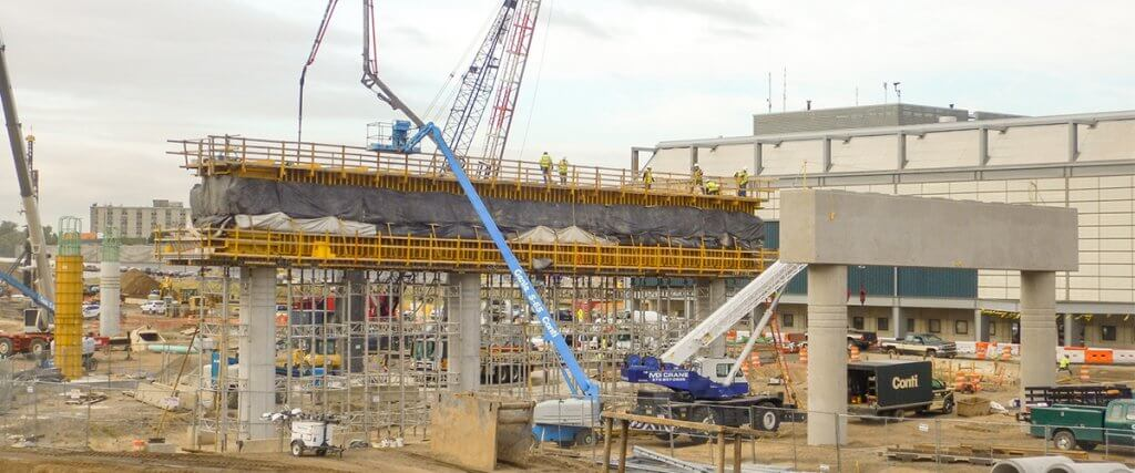 EFCO Formwork at Newark Liberty International Airport (Terminal One Redevelopment) - Newark, New Jersey