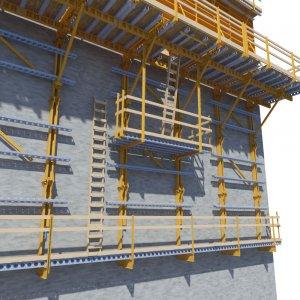 EFCO Guided Rail System Scaffolding