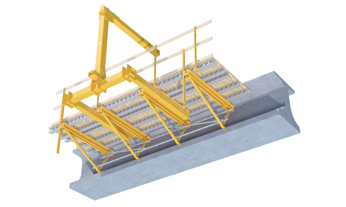 Heavy-Duty Bracket Overhang System