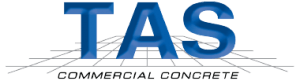 TAS Commercial Concrete Construction Company Logo