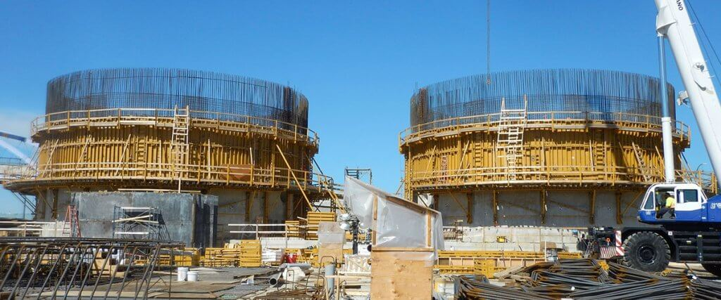 Formwork for Round Concrete Walls | Wastewater Treatment Plant