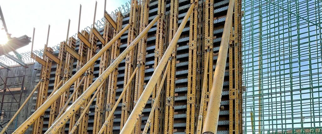 Battered Wall | Formwork Wall Solution
