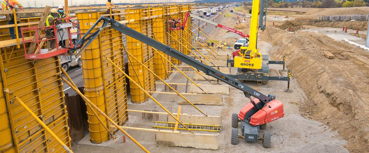 Infrastructure Construction | Bullnose Pier Formwork