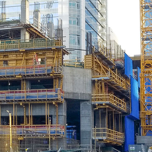 44-story high-rise building | formwork construction